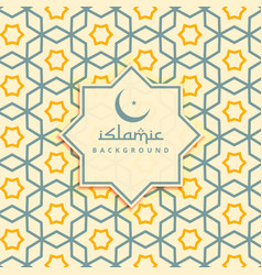 Creative arabic background pattern vector