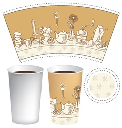 cup for coffee vector image