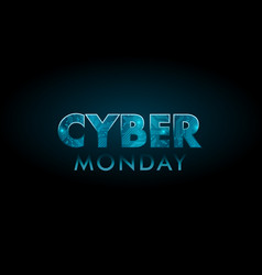 cyber monday sale technology banner board pattern vector image