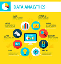 Data analytics infographic vector