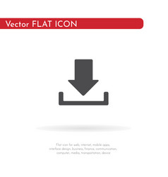 download icon for web business finance and vector image