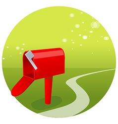 Empty mailbox green landscape vector