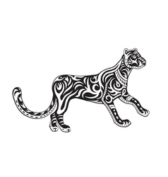 Ethnic ornamented panther vector image