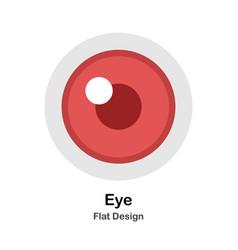 Eye flat vector