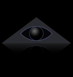 eye in triangle vector image