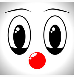 Face a man in a clown mask with different vector