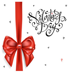festive card for happy valentines day vector image