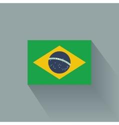 Flat flag brazil vector