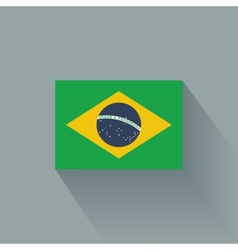 Flat flag of Brazil vector