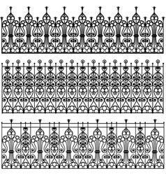 Forged metal fences vector