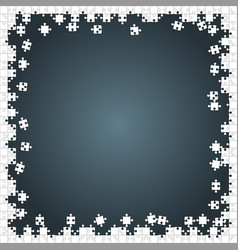 Frame white puzzles pieces grey - jigsaw vector