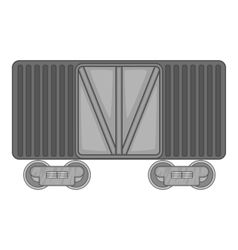 Freight train icon black monochrome style vector