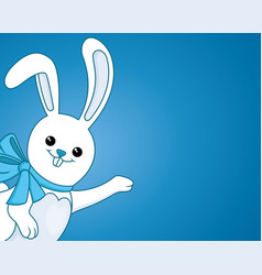 funny bunny with a bow vector image