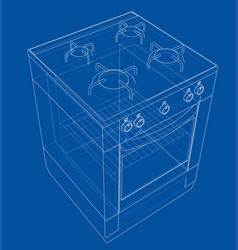 gas stove concept vector image