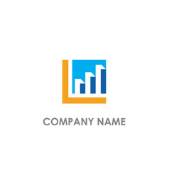 graph economy business logo vector image