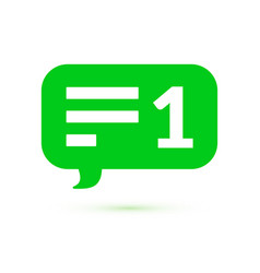 green message counter comment notification ui vector image