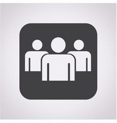 group people sign icon vector image