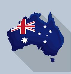 happy australia day map of australia vector image