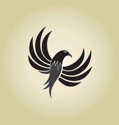 Hawk logo ideas design on vector