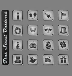Holidays icon set vector