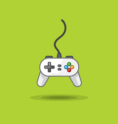 icon of game joystick to play station on vector image