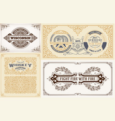 labels and cards set vector image