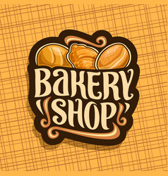 logo for bakery shop vector image