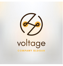 logo voltage vector image