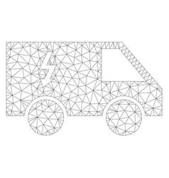 Mesh electrical car icon vector