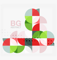 modern elegant geometric circles abstract vector image vector image