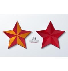 modern star banner background vector image
