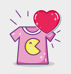 Pacman tshirt cartoon vector