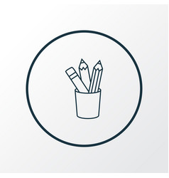 pencil icon line symbol premium quality isolated vector image