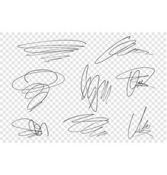 Pencil scrawls set vector