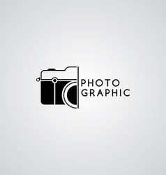 Photography logo template theme vector