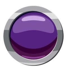 Purple button icon cartoon style vector