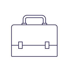 Purple line contour of executive briefcase vector
