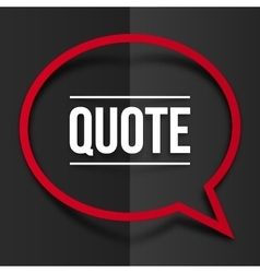 red speech bubble frame with shadow at black vector image