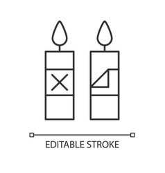 Remove candle packaging before use linear manual vector
