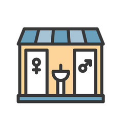 Restroom icon filled outline style editable stroke vector
