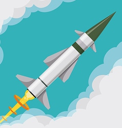 Rocket digital design vector