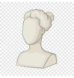 Sculpture head woman icon cartoon style vector