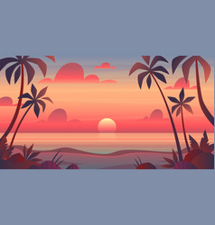 sea sunset evening or morning view vector image