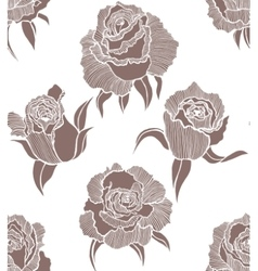 seamless light background with roses vector image