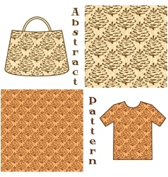 Seamless pattern pictogram cones vector