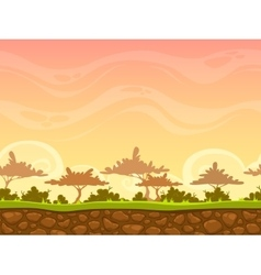 Seamless savanna landscape vector