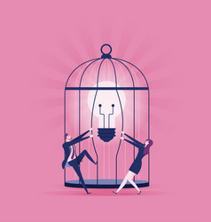 set free ideas - business concept vector image