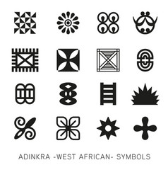 Set of akan and adinkra -west african- symbols vec vector