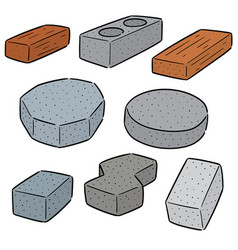 set of brick vector image
