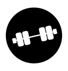 Single dumbbell icon image vector